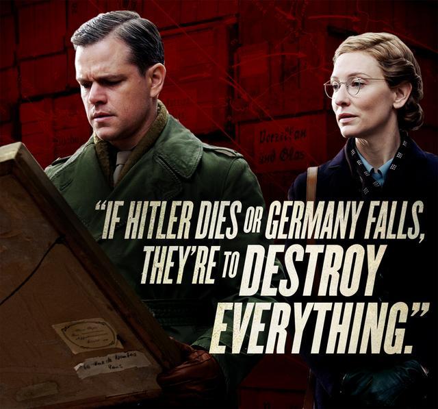 奥斯卡影后凯特谈《盟军夺宝队》 大赞马特达蒙