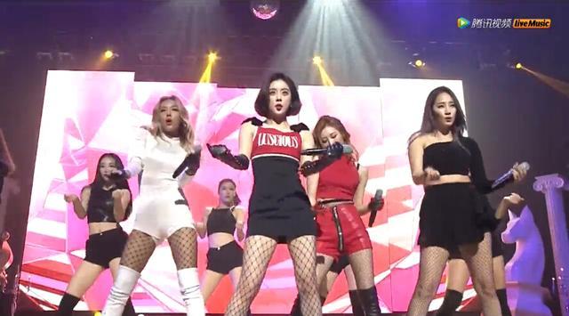 Wonder Girls演唱会直播 黑丝秀美腿野性热舞