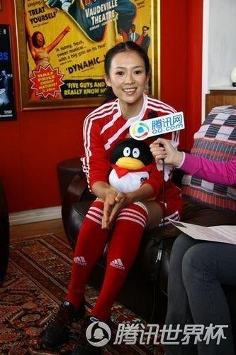 章子怡吹祖拉赤脚献技 赵薇扬言没看世界杯