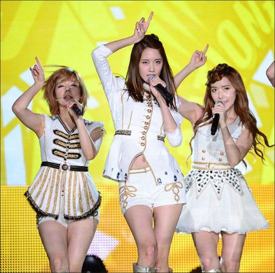 少女时代亮相丽水世博会 参加中韩歌会秀美腿