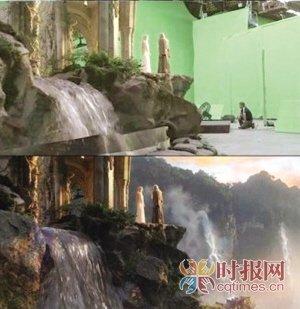 揭秘电影特技:《霍比特人》瀑布原来是块绿布