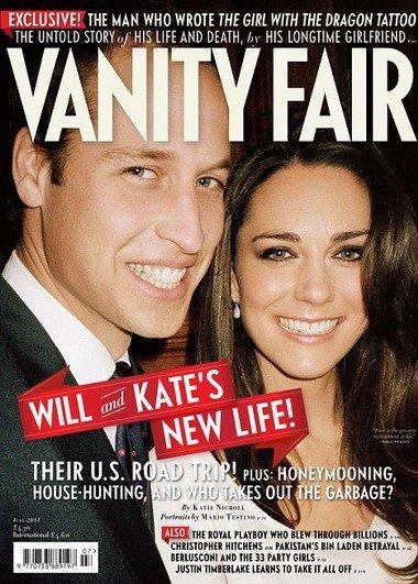 威廉凯特登《名利场》杂志封面 私房婚照首曝光