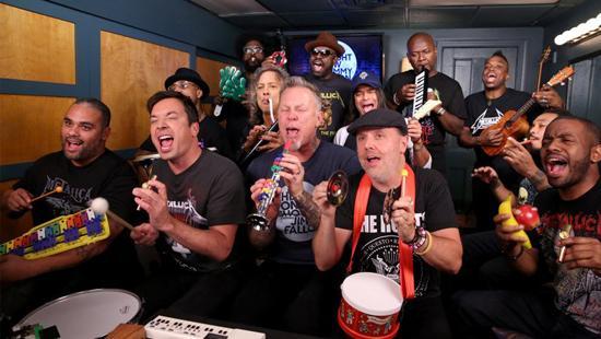 金属乐队带来另类演出 用课堂乐器演奏经典名曲