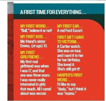 贝克汉姆谈初吻:13岁时被朋友的姐姐夺走了_娱乐_腾讯网