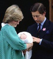 戴安娜、查尔斯与刚出生的威廉