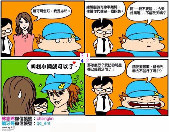 钢牙哥漫画又见志玲姐姐 戚薇九宫图后出新招图片