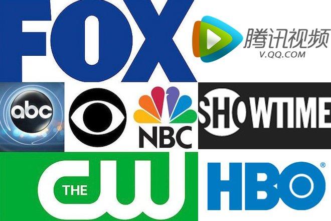 美国主流电视台(CBS\NBC\ABC\HBO\Showtime\FOX\CW)与腾讯视频)