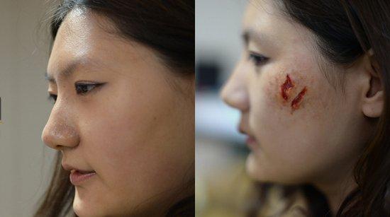 揭秘恐怖片拍摄:割喉挖心靠硅胶 血浆实为蜂蜜水