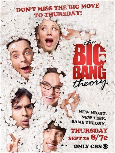 《生活大爆炸》第四季海报亮相 主角被棉花包围