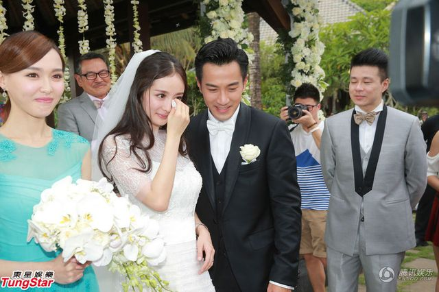 杨幂刘恺威巴厘岛大婚 仪式简单只用半小时