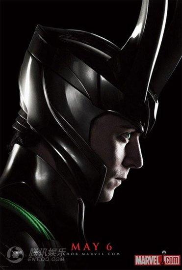 《雷神托尔》发角色海报 战神超酷头盔添杀气