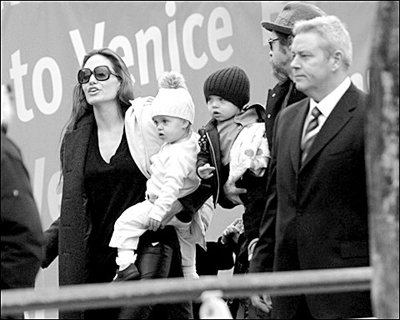 Angelina Jolie And Brad Pitt Twins Down Syndrome. Jolie and twins children