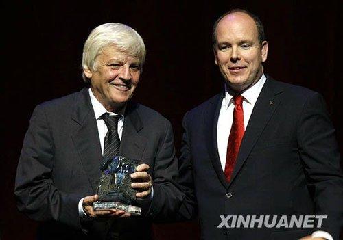 《海洋》首映礼 摩纳哥王子授予雅克贝汉特别奖