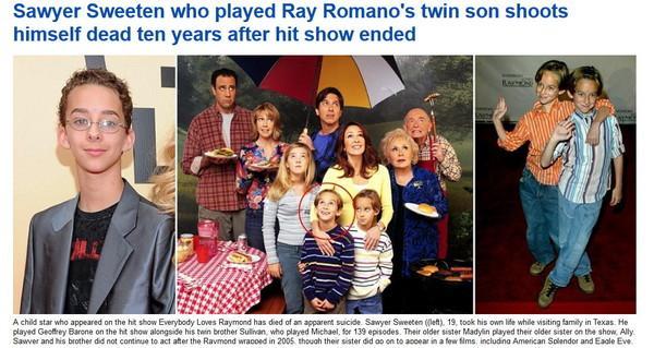 美国19岁童星开枪自尽 曾演《人人都爱雷蒙德》