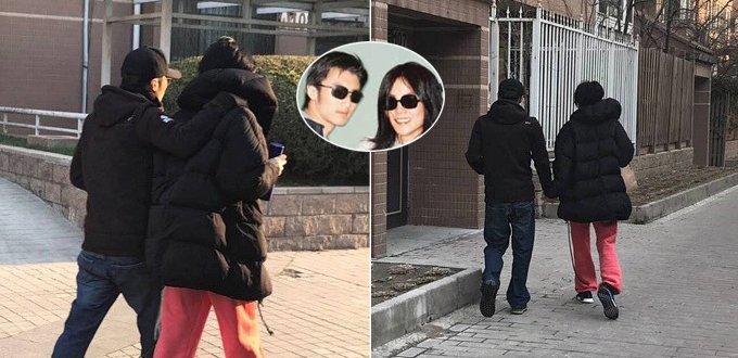 网曝王菲谢霆锋遛弯照 老夫老妻既视感
