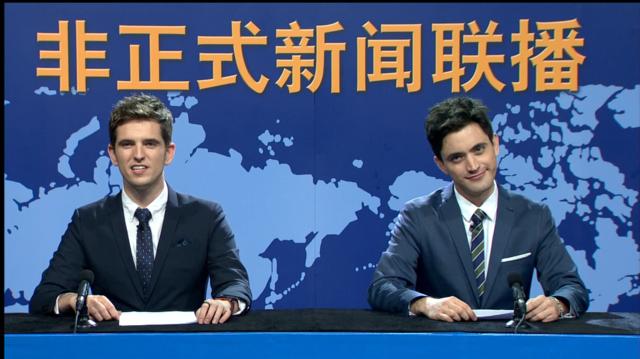 老外当起新闻主播 中文说得比中国人还溜