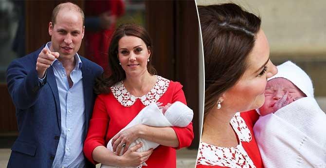凯特王妃抱小王子现身,刚生产完几小时就与媒体见面