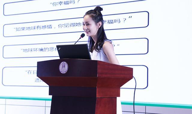 张维娜变身张老师环保校园行 生日学生送惊喜
