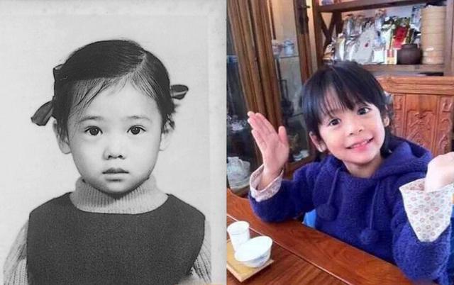翁虹晒照声明:女儿是我亲生的 她爸基因太强大