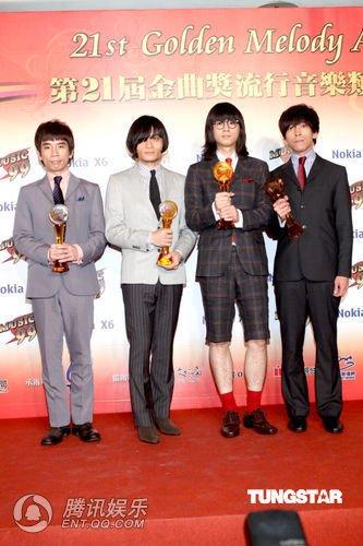 第21届台湾金曲奖 1976乐团获得最佳乐团奖