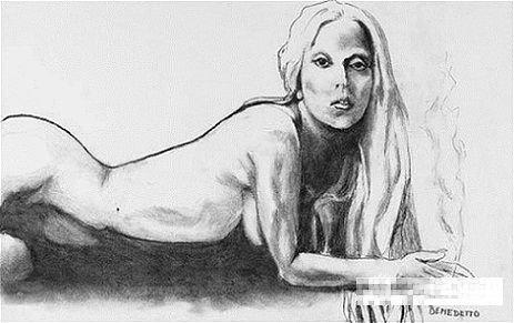 Lady Gaga裸体素描被拍卖 已拍出6700美元高价
