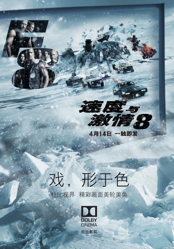 《速度与激情8电影》活动海报
