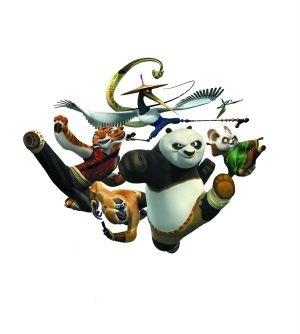 熊猫阿宝和它的伙伴们在中国很受欢迎