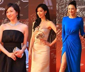 上海电影节开幕 女星红毯争艳