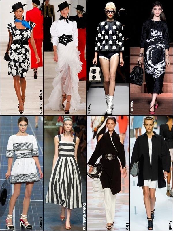 今天穿什么:钟小姐换季穿黑白拼色哦!