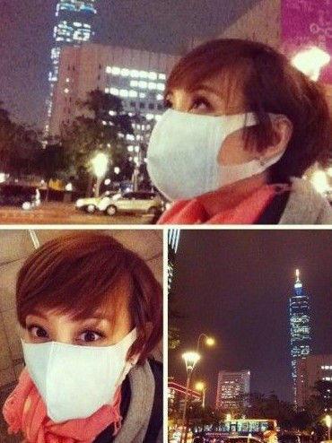 重度雾霾天出街装扮 看明星潮人口罩style