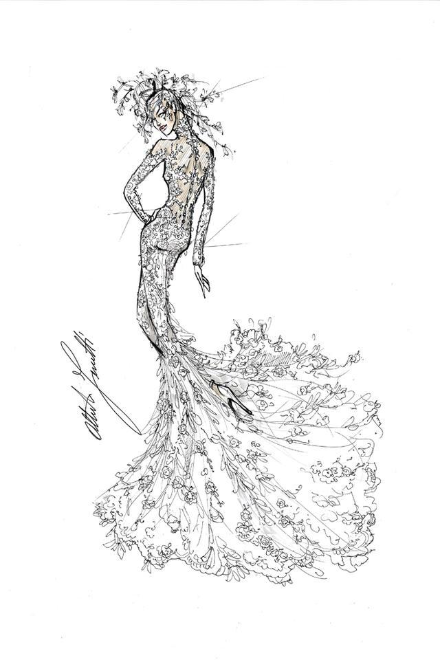 婚纱手绘图片男