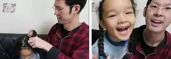 11款爸爸给女儿绑的发型 爸爸们细心起来也是可怕