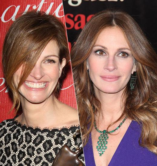 发型改变命运,最近女星们都齐齐换造型,新年伊始,大嘴女神茱莉亚图片