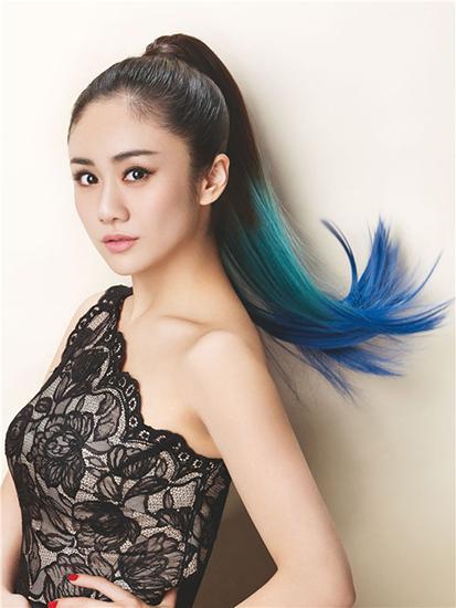 Gradient color ponytail cheap human hair elicit true I