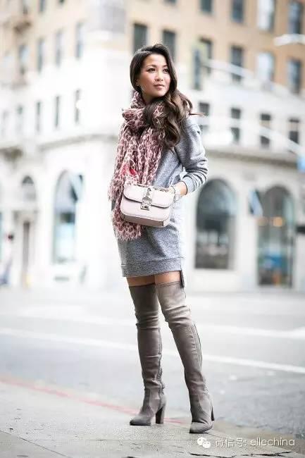 155cm的博主告诉你 娇小女生穿长靴也能很好看图片