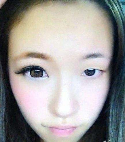 日本半颜妆爆红网络 冰火两重天不忍直视