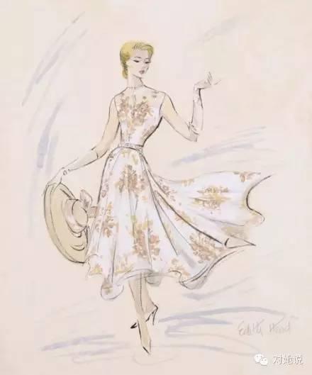 手绘蕾丝裙子设计图