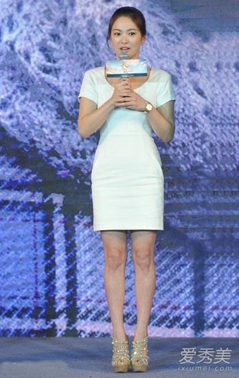 宋慧乔穿小白裙