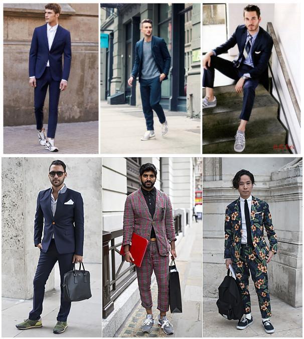 职场休闲两种风格 穿运动鞋的四种时髦搭配图片