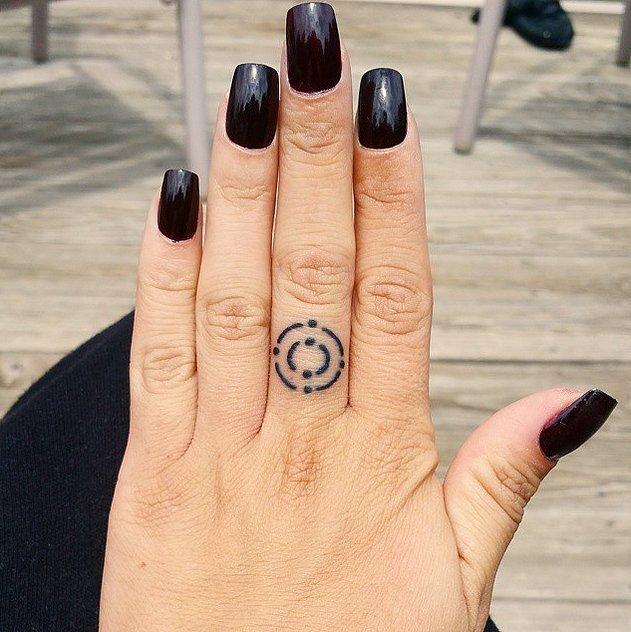 """八公举:30张""""手指纹身"""" 看完就想去纹身了图片"""
