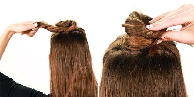 """高圆圆发型升级 女星都在""""半扎丸子头"""""""