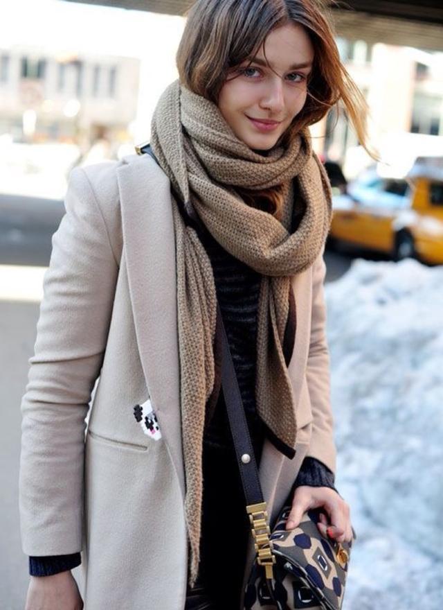 今天穿什么:如何选择一条合适的围巾?