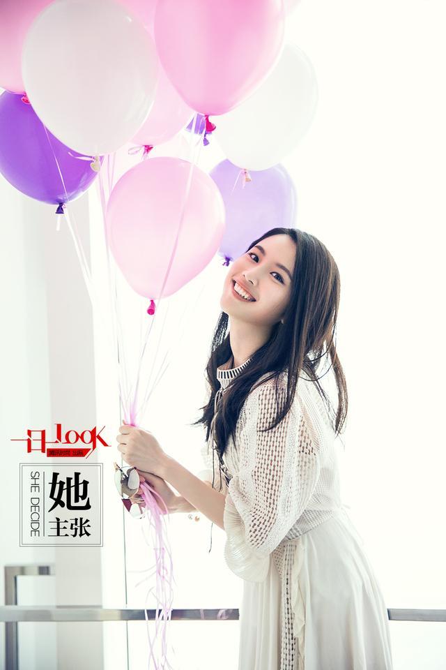 张慧雯氢气球少女小白裙恋爱季