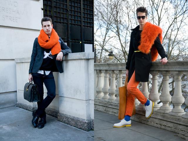 橙色讓整個冬天興奮起來