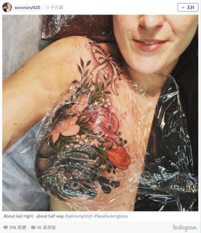 八公举:36岁乳房切除术后的纹身 真的很美 美到让人微笑