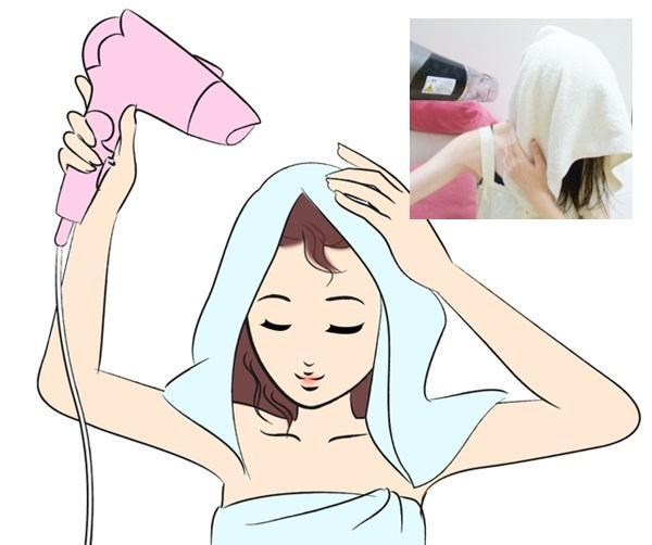 不伤害发质,快速吹干头发的小秘技!