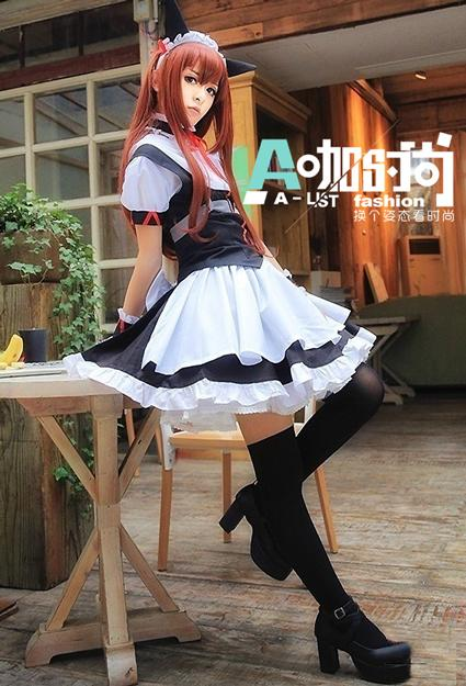 徐娇女仆装cosplay高清图片