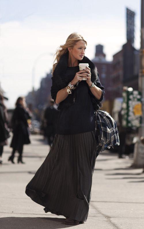 今天穿什么:这条裙能从冬穿到夏