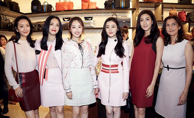 姚晨出席Longchamp上海旗舰店开幕,爱美妈妈偏爱法式贵族包包