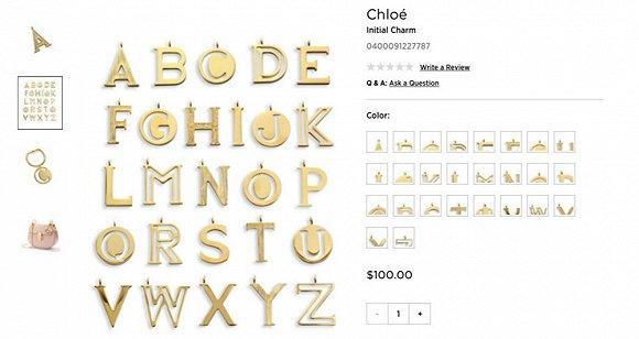 Chloé玩了把旧瓶装新酒的游戏 推出定制字母挂饰服务